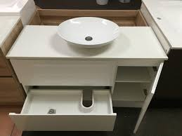 pearl 1200mm white gloss polyurethane bathroom vanity with stone