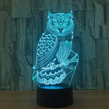 Owl Table L Owl Light 3d Led Animal Light Rgb Changeable L Child