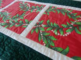 hawaiian home decor hawaiian christmas quilted table runner mele kalikimaka