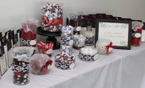 under the mistletoe christmas candy and sweet buffet bridal