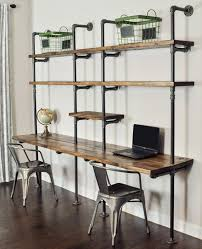 pipe desk with shelves the 799 i will build my own or at least ask the hubs to