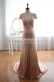 champage gold sequins wedding dress prom dress evening gown with