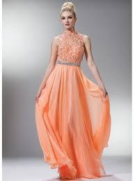 turmec orange halter neck bridesmaid dresses