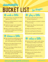summer bucket list for bloggers it u0027s like spring cleaning but so