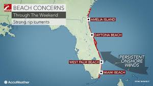 West Coast Of Florida Map by Strong Rip Currents To Threaten Florida U0027s East Coast Beaches