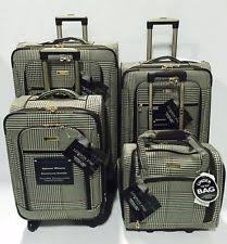 ultra light luggage sets london fog northwood 4pc ultra light luggage set expandable black