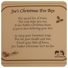 Giving Christmas Gifts Poems Christmas Eve Box Poem U2013 Merry Christmas And Happy New Year 2018