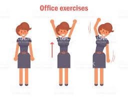 exercice au bureau exercices pour le bureau vector cliparts vectoriels et plus d