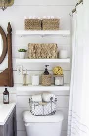 Bathroom Basket Storage by Best 25 Shelves Above Toilet Ideas On Pinterest Half Bathroom
