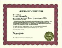 accuracy assured home inspections llc u0027s certifications