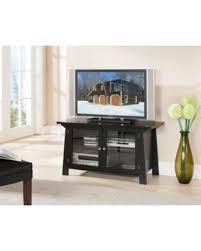Entertainment Center Cabinet Doors Sweet Deal On 42 Black Wood Entertainment Center Tv Console