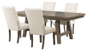Dining Tables 4 Chairs Dex 5 Piece Dining Set Table 4 Upholstered Side Chairs