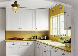Yellow Kitchen Wall With White Cabinets  SMITH Design  Kitchen - White kitchen wall cabinets
