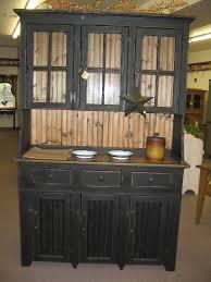 furniture hutches barn red pine hutch with stars primitive