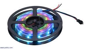 how to power led strip lights pololu addressable rgb 60 led strip 5v 2m ws2812b