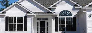 modern white nuance of the vinly exterior home soffit decor that