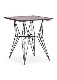 Black Bistro Table Zuo Modern Heavy Metal Bistro Table Rustic Black 404224