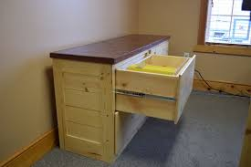 Pine Filing Cabinet Crafted 4 Drawer Credenza File Cabinet In Knotty Pine With