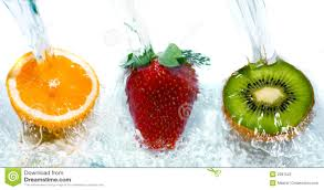 fruit fresh fresh fruit jumping into water with a splash royalty free stock