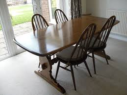 Ercol Dining Room Furniture 6 Foot Ercol Dining Table And 4 Windsor Chairs In Tring