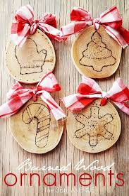 diy burned wood ornaments for his special gift maybe