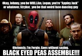 Funny Movie Memes - funny meme deadpool black eyed peas