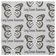 lung cancer butterfly awareness ribbon fabric zazzle com