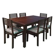 six seater dining table evok eastern solidwood six seater dining table set amazon in home