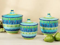 green kitchen canister set signature ceramic kitchen canisters jars ebay green kitchen
