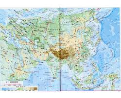 East Asia Physical Map by Maps Of Asia And Asian Countries Political Maps Road And