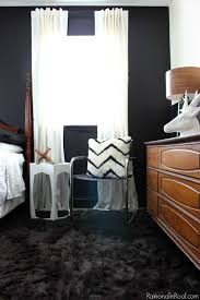 Black And White Bedroom Teenage Masculine Bedroom Makeover With An Office Space