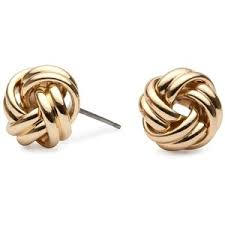 knot earrings polished gold knot stud earring jon richard polyvore