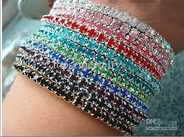 bracelet color crystal images Best fashion jewelry multi color rhinestone crystal stretch jpg