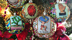 mark montano sugar skull and loteria ornaments