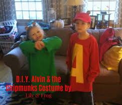Alvin Chipmunk Halloween Costume Frightful Diy Family Halloween Costumes Lily U0026 Frog