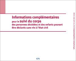 bureau de l at civil registre de suivi du corps des personnes décédées et des enfants