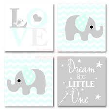 Cute Sayings For Home Decor Framed Canvas Print Love 4 Piece Set Cute Elephant Bird