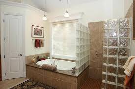 glass block bathroom designs glass block wall designs a spa like feel provides privacy and