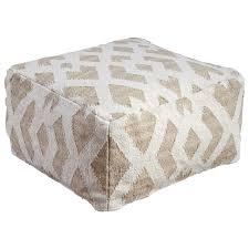 ashley signature design poufs badar taupe white pouf dunk