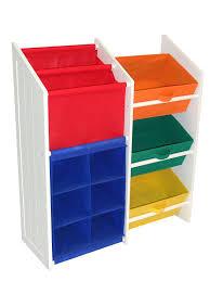 amazon com riverridge kids super storage with 3 bins book holder