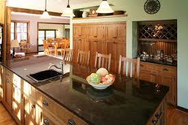 Black And Oak Kitchen Cabinets - quarter sawn oak kitchen cabinets kitchen traditional with black