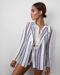 white shirt necklace images Shorts tumblr stripes striped shorts blazer printed blazer jpg
