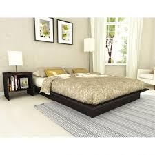 bedroom modern white padded california king platform bed frame