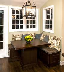 Nook Ideas Decorating Ideas Dining Room Corner With Dark Rectangle Wood