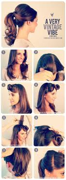 pinup clip in ponytail with bangs 27 gorgeously dreamy vintage inspired hair tutorials