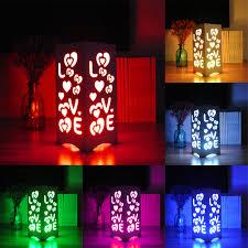 24 key remote control rgb led table light white art light love and