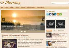 morning wood blogger template u2022 blogspot templates 2018
