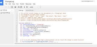 Google Spreadsheet App Create A Simple Changelog Using Google Apps Script Eyana Mallari