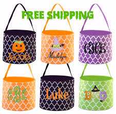 personalized halloween buckets free shipping halloween bucket monogrammed halloween bucket