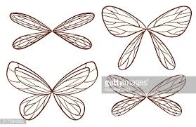 simple sketches of fairy wings vector art getty images